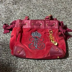 Red Velvet Juicy Couture Slouchy Bag
